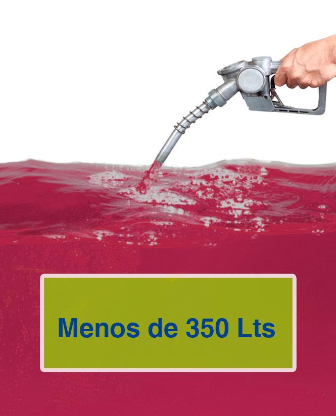 Gasóleo B menos de 351 litros